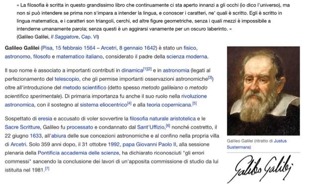 Unmondodiamici il pap della scienza moderna galileo galilei - Nostro padre versione moderna ...