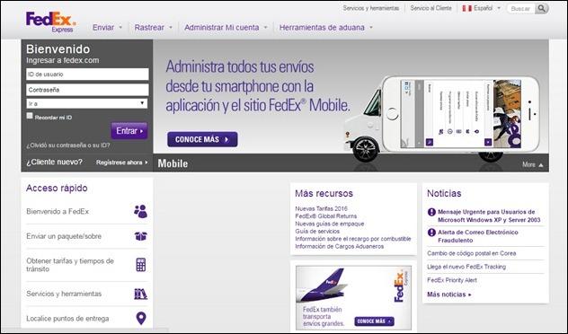 Abrir mi cuenta FedEx