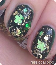 St.Patrick's Day green nails Catrice Hugo Moss nail polish with Claire's Accessories Sham-Rock My Heart Paddy's Day