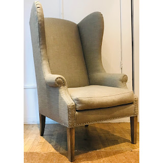 Lillian August High-Back Wing Chair #1