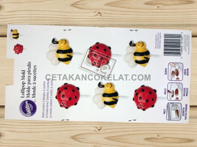 cetakan coklat cokelat silikon lebah kepik tawon hewan binatang serangga wilton 2115-0160