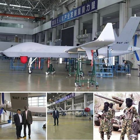 Nigeria receives 2 sophisticated drones capable of fighting Boko Haram Bandits for 26 hours non stop, breaking news nigeria, Abuja blogger, nigerian news blog, google news publishers, opera news publishers, SD news blog, shugasdiary.com.ng, crime news,