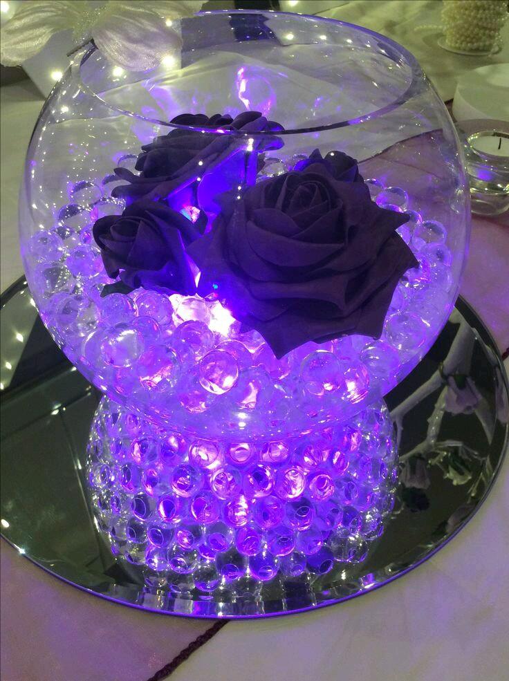 m u00e1s y m u00e1s manualidades centros de mesa con iluminaci u00f3n led table centerpieces using fish bowls