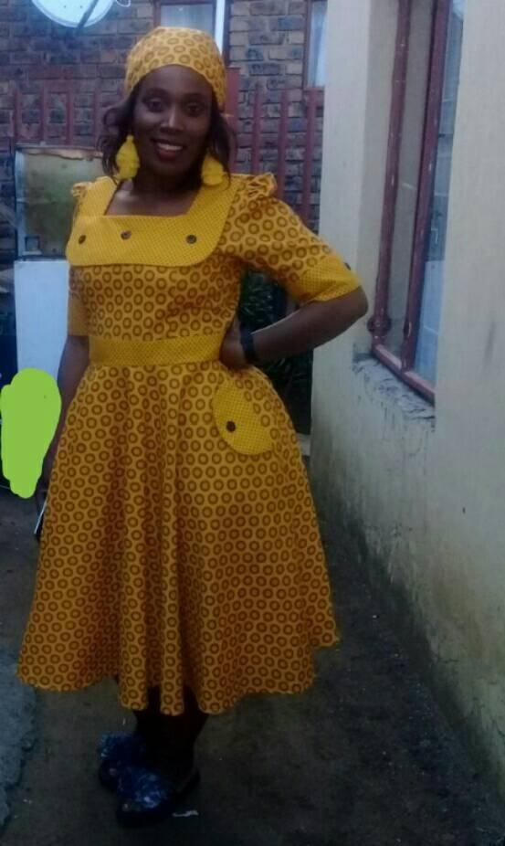 Shweshwe Dresses For Ladies 2018 Styles 2d