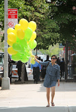 Just taking her balloons for a walk...