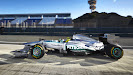 Mercedes W04 driving at Jerez test