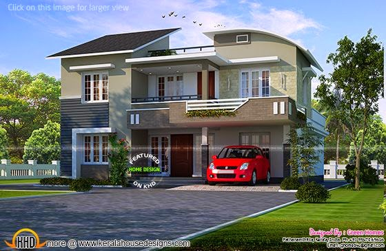 Modern double storied home