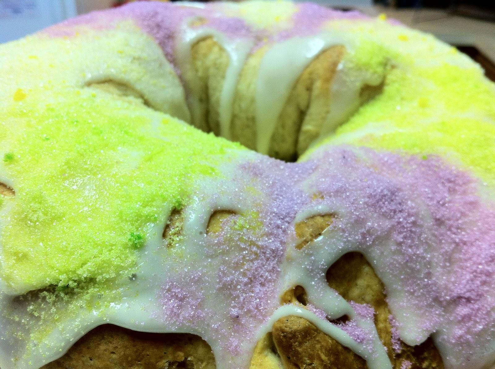 Cream Cheese King Cake Refrigerate