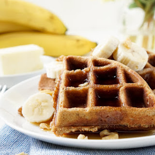 Whole-Wheat Banana Nut Bread Waffles