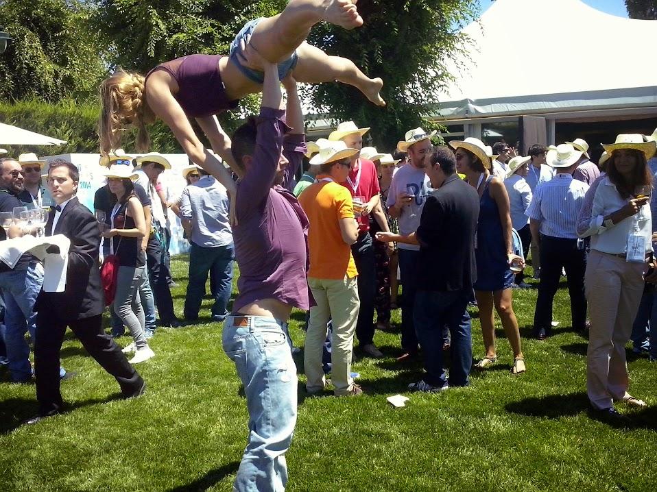baile acrobático en Roche