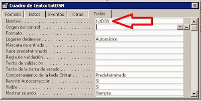 Crear formulario en Access para modificar la vinculación DSN automática de tablas