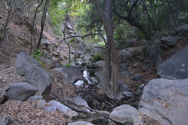 water flowing down