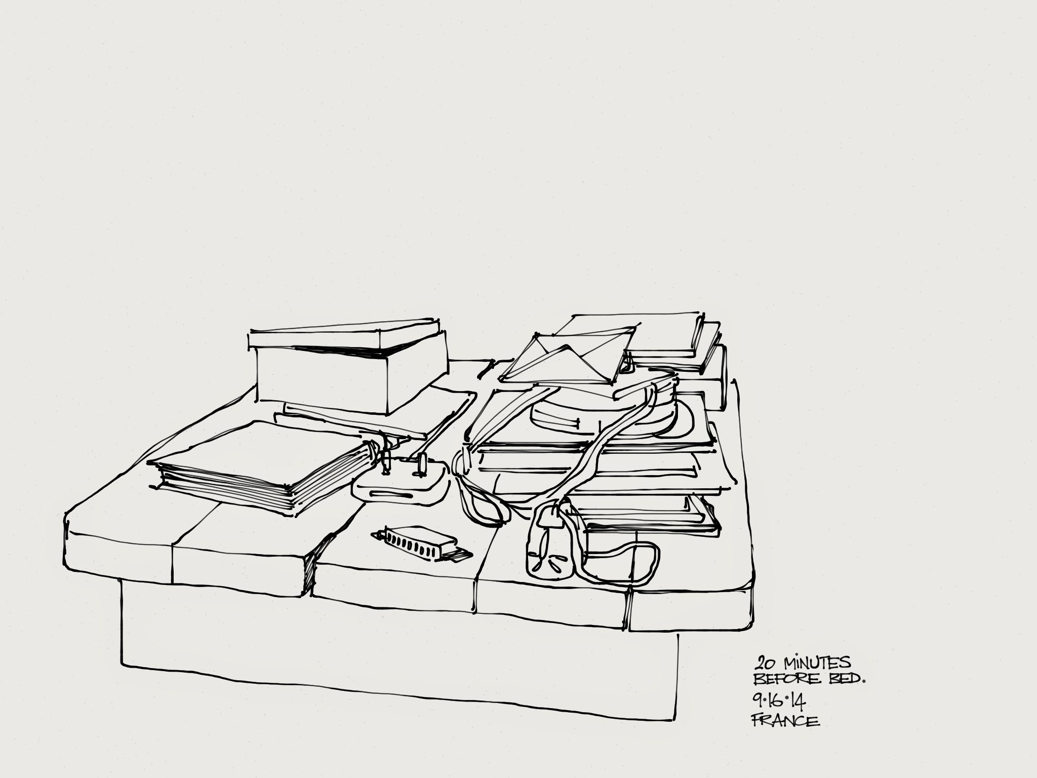 Wagonized september 2014 the constant chaos that is my coffee table this is the kind of sketch i squeeze in at the end of the day in extremis if you will so that i dont geotapseo Gallery