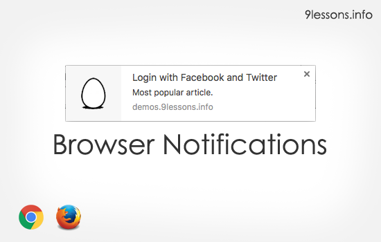Display Browser Notifications from Web Application