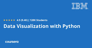 free course to learn Data Visualization with Python from IBM Coursera