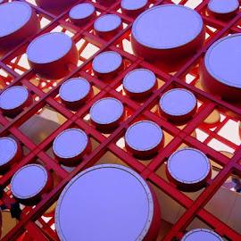 Wall of circles by Rebecca Pollard - Abstract Patterns (  )