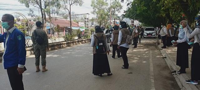 Tekan Kasus Covid-19, Dinkes Tanbu Razia Masker di Jalan