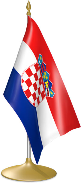Croatian table flags - desk flags