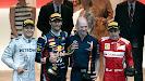 2012 Monaco Podium: 1. Webber 2. Rosberg 3. Alonso
