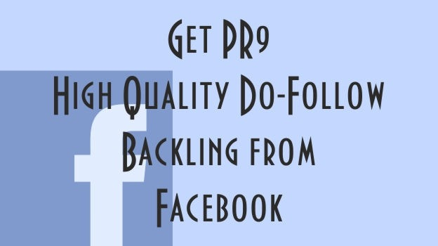 high quality backlink from facebook