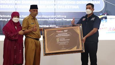 ACT Menobatkan Sumatera Barat Sebagai Provinsi Dermawan