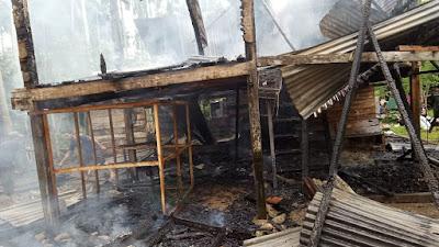 Api Hanguskan Rumah Janda Dua Anak