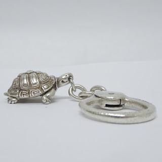 Tiffany  & Co. Sterling Silver Turtle Keychain