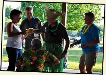 11k3- Hawaiian Luau - May 30 - Let the Games Begin - Hula Girl Relay
