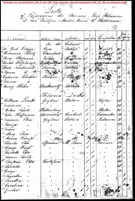Kuhn Children Passenger List 1857 (2)
