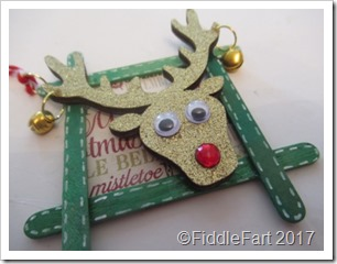 Craft Stick Reindeer Tag