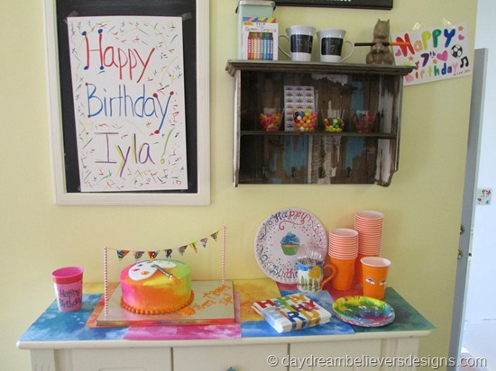 DIY Art Party at Home - Simple Snack Cart