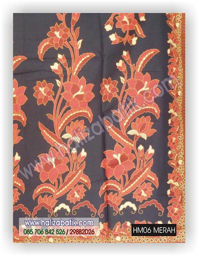 Contoh Batik, Batik Modern, Grosir Batik Pekalongan, HM06 MERAH