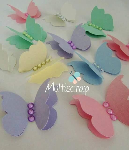más y más manualidades: Usa mariposas de cartulina como decoracion ...