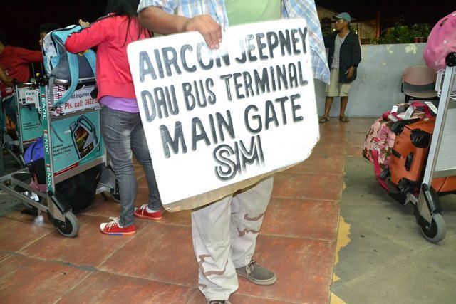 クラーク国際空港・フィリピン・ジープニーの案内