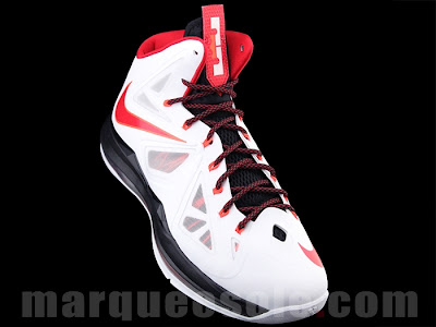 nike lebron 10 gr miami heat home 1 05 First Look: Nike LeBron X Miami Heat Home