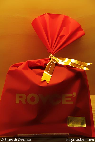 Bhavesh says, it's a Pouch of Joy at ROYCE' [Phoenix Market City, Pune, India]