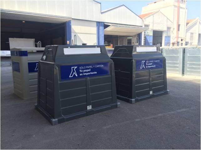 Prueba piloto de contenedores antihurto para la recogida de papel y cartón