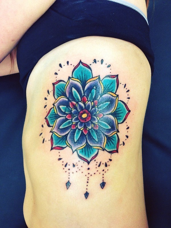 azul_da_flor_de_ltus_da_tatuagem