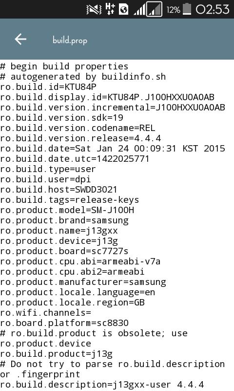 Tweak Build prop For Samsung J1 (J100H) - AwakGe