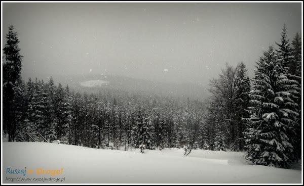 panorama z kamieńczyka zimą