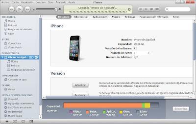 Copia de seguridad de los datos y configuraciones de un iPhone con iTunes