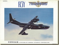 Convair R3Y Tradewind Brochure