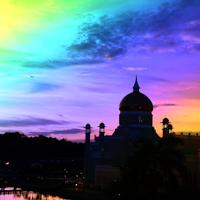 Masjid Omar Ali Saifuddien by Mohd Nazeerul - Buildings & Architecture Places of Worship ( brunei )