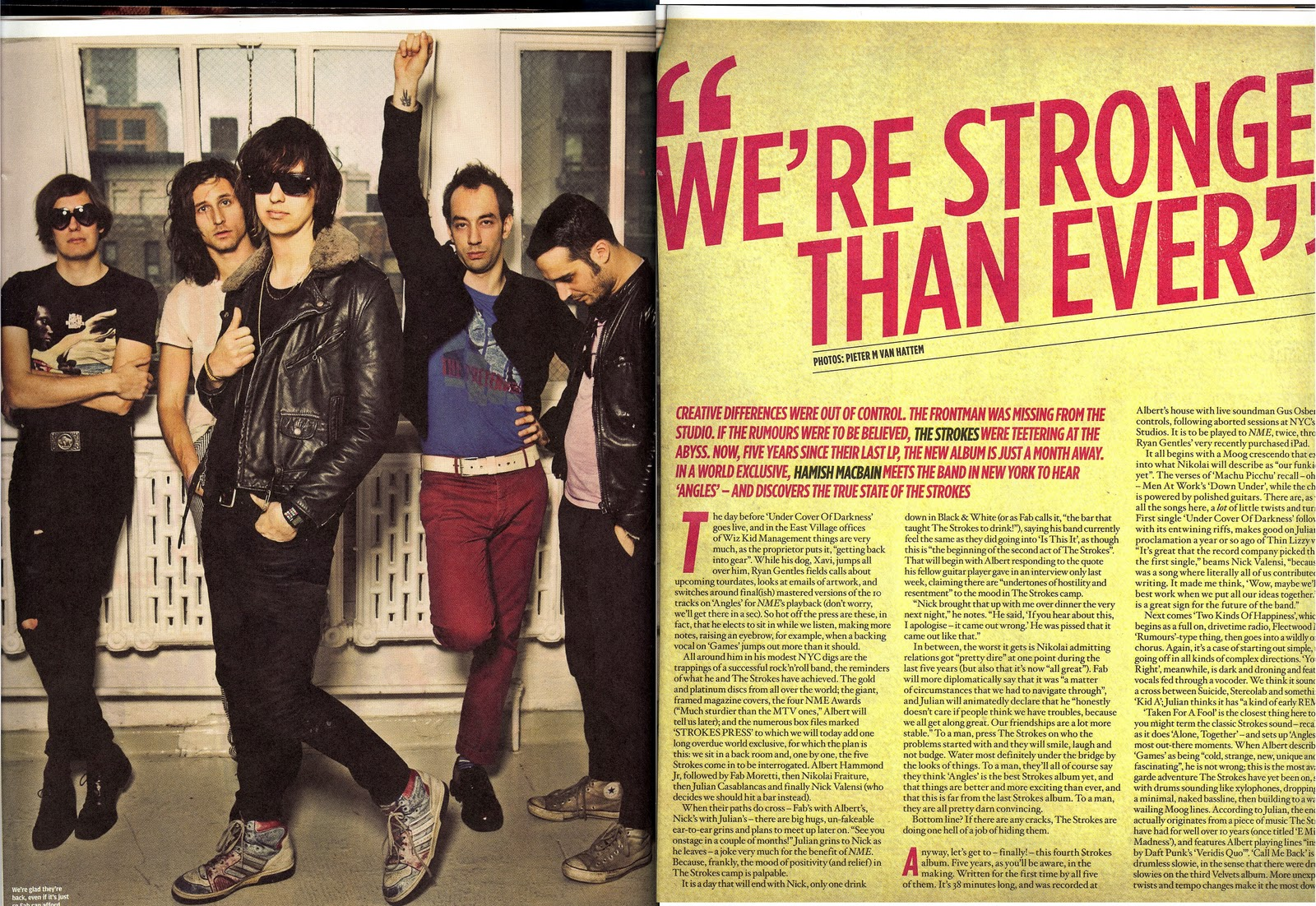 i just wanted to be one of the strokes