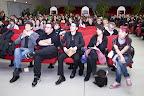 """I vincitori del concorso """"Reason Wine"""" (da dx: Federica Wu, Nadia Salatin, Giacomo Mantovani e Michele Socci)"""