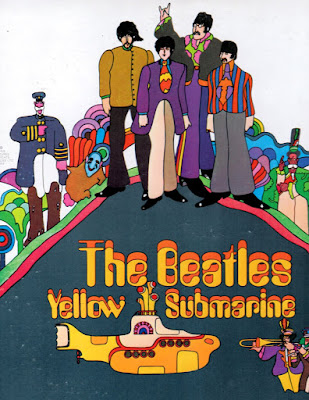 The Beatle Yellow Submarine record album cover bought circa 1970s