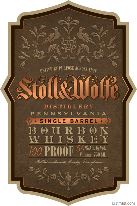 Stoll & Wolfe Distillery Pennsylvania Single Barrel Bourbon Whiskey