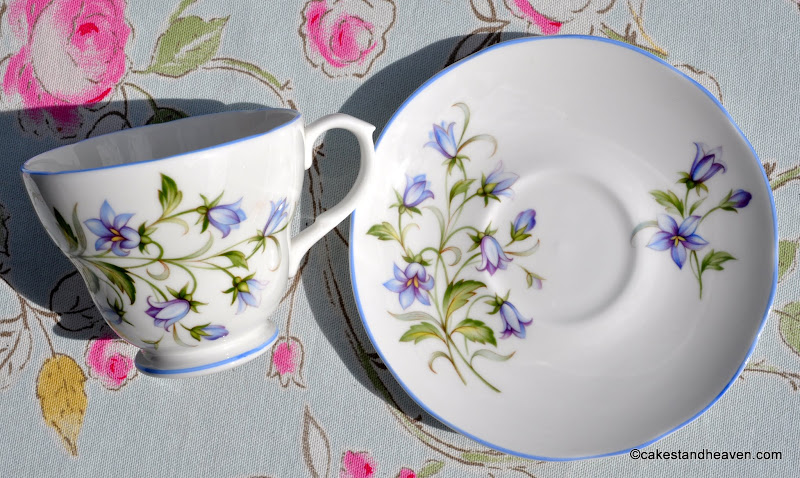 1960s English bone china Harebell pattern