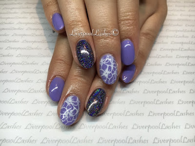 liverpoollashes liverpool lashes nails shellac acrylics cnd wisteria haze sascha gossen plates lecente mortar fireworks glitter