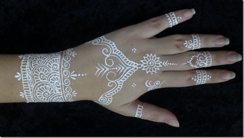 White Henna: 35 Latest White Henna Designs That Will Look Fabulous On